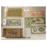 Selection of Foreign and US Paper Money  Auction Estimate $5-$20 – Located Glassware