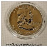 Silver Franklin Half Dollar  Auction Estimate $5-$20 – Located Glassware