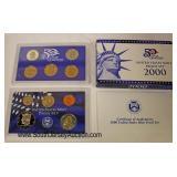 2000 U.S. Mint Proof Set 50 State Quarters  Auction Estimate $5-$20 – Located Glassware
