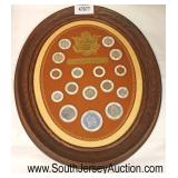 Obsolete Coinage in Frame  Auction Estimate $25-$50 – Located Glassware
