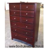 """Cherry """"Crawford of Jamestown Made in USA"""" Contemporary 6 Drawer High Chest  Auction Estimate $100-"""