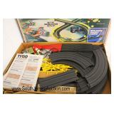 """Vintage """"Tyco"""" Slot Car Racetrack with Cars  Auction Estimate $100-$200 – Located Glassware"""