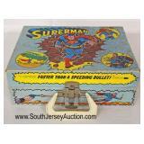 VINTAGE Superman Traveling Phonograph  Auction Estimate $50-$100 – Located Glassware