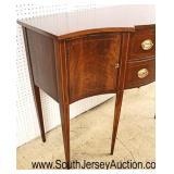"SUPER CLEAN ""Hickory Chair Company"" Burl Mahogany Taper Leg Brandy Board  Auction Estimate $500-$10"