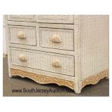 """5 Piece """"Jamaica Collection Exclusively For Pier 1"""" Wicker Bedroom Set including Chair, 2 Drawer Ni"""