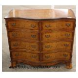 Burl Walnut Inlaid and Banded 2 Door Media Cabinet  Auction Estimate $200-$400 – Located Inside