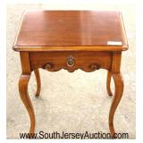 """SOLID Cherry """"Statton Furniture"""" One Drawer 2 Tier Lamp Table  Auction Estimate $50-$100 – Located"""