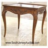 Parquetry Walnut Country French Carved Lamp Table attributed to Henredon Furniture  Auction Estimat