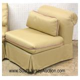 PAIR of QUALITY Down Cushion Slipper Chairs with Pillows  Auction Estimate $300-$600 – Located Insi
