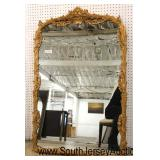 QUALITY French Carved Gold Decorator Mirror  Auction Estimate $100-$300 – Located Inside