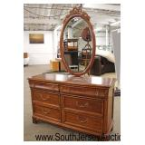 """Cherry """"Lexington Furniture"""" 2 Piece Full Size Bed and 6 Drawer Low Chest with Oval Mirror Comes wi"""