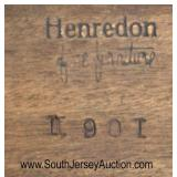 """VINTAGE """"Henredon Furniture"""" Banded Mahogany Coffee Table  Auction Estimate $100-$300 – Located Ins"""