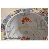 "Asian ""Winterthur"" Paint Decorated Planter  Auction Estimate $40-$80 – Located Glassware"