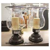 Selection of Hurricane Lamps  Auction Estimate $10-$30 – Located Glassware