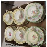 "Box Lot of ""Royal Albert and Royal Stuart"" Porcelain Cups and Saucers  Auction Estimate $50-$100 –"