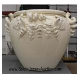 Large Ceramic Planter with Grape Vine Decoration  Auction Estimate $20-$80 – Located Glassware