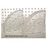 PAIR of Cut Glass Bookends  Auction Estimate $20-$50 – Located Glassware