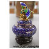 Cloisonné Hummingbird Top Perfumer  Auction Estimate $50-$100 – Located Glassware