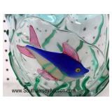 NICE Hand Blown Art Glass Fish Decorative Vase Attribute to Murano  Auction Estimate $100-$200 – Lo