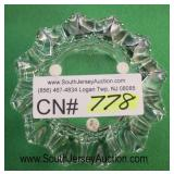 """Crystal Cut """"Orrefers"""" Glass Candy Dish  Auction Estimate $50-$100 – Located Glassware"""