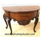 SOLID Mahogany French Style with Sunburst Top One Drawer Server by Maitland Smith Furniture  Auctio