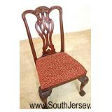 "BEAUTIFUL Set of 6 ""Maitland Smith Furniture"" SOLID Mahogany Chippendale Style Dining Room Chairs"