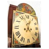 ANTIQUE Tall Case Burl Walnut Grandfather Clock  Auction Estimate $800-$1500 – Located Inside