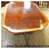 BEAUTIFUL Burl Mahogany Banded Double Pedestal Dining Room Table  Auction Estimate $300-$600 – Loc