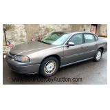2001 Chevy Impala 1 owner, well maintained, new tires, odometer reads 82k miles