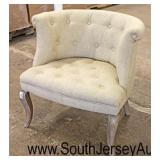 Decorator Upholstered Button Tufted Chair  Auction Estimate $100-$200 – Located Inside