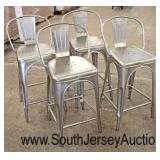 Set of 4 Industrial Style Bar or Island Stools  Auction Estimate $100-$300 – Located Inside