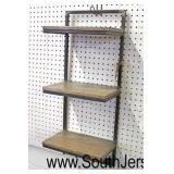 Industrial Style Wood and Metal Wall Shelf with Hooks  Auction Estimate $20-$50 – Located Inside