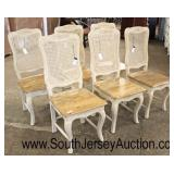 Set of 6 NEW Cane Back Wood Seat Carved Country French Style Dining Room Chairs  Auction Estimate $