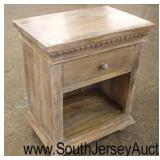Reclaim Wood Style One Drawer Night Stand  Auction Estimate $50-$100 – Located Inside
