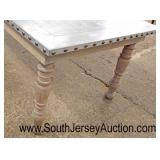 Zinc Top Turn Leg Farm Style Dining Room Table  Auction Estimate $200-$400 – Located Inside
