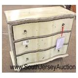3 Drawer Distressed Serpentine Front Chest  Auction Estimate $100-$300 – Located Inside