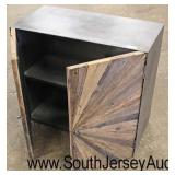 Industrial Style Metal and Wood 2 Door Server  Auction Estimate $100-$300 – Located Inside