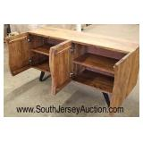 Industrial Style 4 Door Sideboard with Metal Legs  Auction Estimate $300-$600 – Located Inside