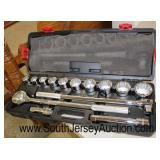 """Husky"" 14 Piece ¾"" Drive Socket Wrench Set  Auction Estimate $50-$200 – Located Inside"