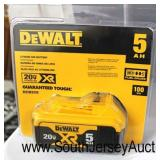 """DeWalt"" 20 Volt 5 AH Lithium Battery 100 WH  Auction Estimate $50-$100 – Located Inside"