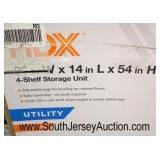 "HDX 36""x54"" 4 Shelf Storage Unit  Auction Estimate $50-$100 – Located Inside"