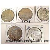 Selection of Silver Morgan and Peace Dollars  Auction Estimate $20-$50 each – Located Glassware