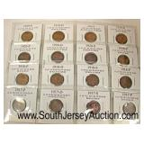 Sheet of Foreign Coins  Auction Estimate $5-$10 – Located Glassware