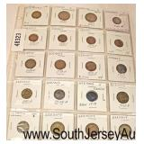 Sheet of 16 Lincoln Wheat Pennies  Auction Estimate $5-$10 – Located Glassware