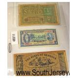 Selection of Foreign Paper Money  Auction Estimate $5-$10 – Located Glassware