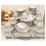 "91 Piece ""Noritake Culeton"" Dinnerware Set  Auction Estimate $50-$100 – Located Glassware"