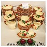 "56 Piece ""Franciscan"" Apple Dinnerware Set  Auction Estimate $50-$100 – Located Glassware"