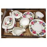 "Box Lot of ""Phoenix China Czechoslovakia"" Partial Porcelain Tea Set  Auction Estimate $50-$100 – Lo"