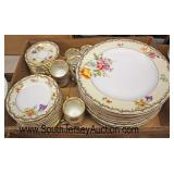 "Box Lot of ""KPM"" Porcelain Partial Dinnerware Set  Auction Estimate $100-$300 – Located Glassware"