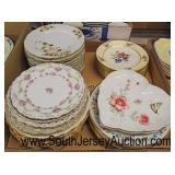 Box Lot of Porcelain Dinner Plates including Lenox, Limoges France, B.G. Limoges, Pareek Johnson Br